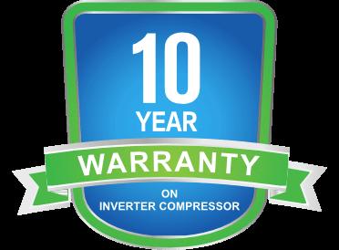 Amstrad 10 Year Warranty on Inverter Compressor