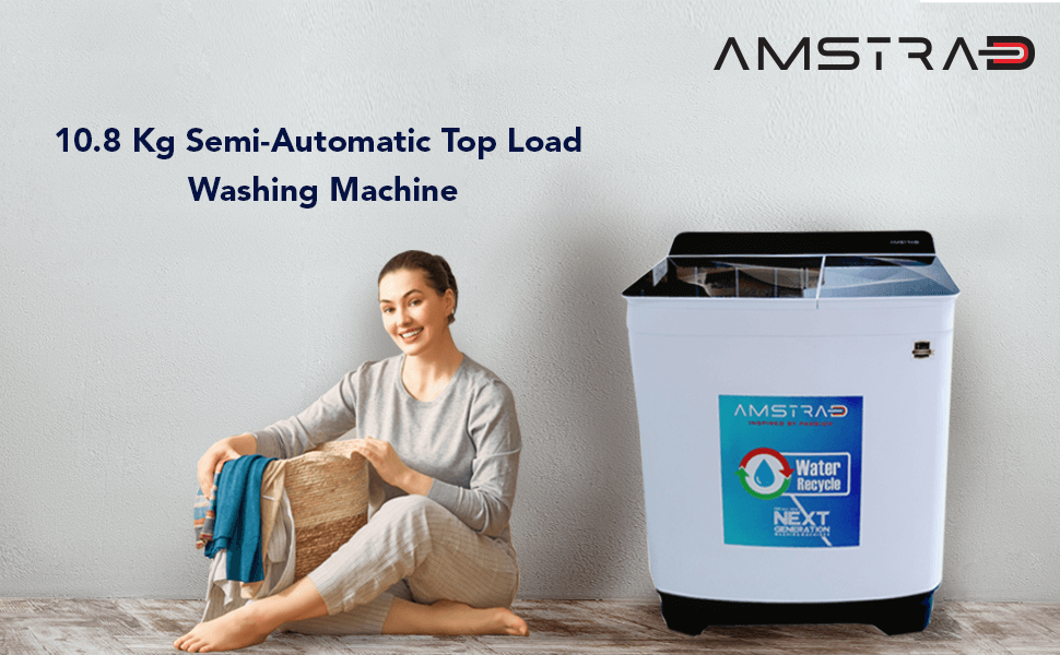 AMWS108L Semi-Automatic Top Load Washing Machine