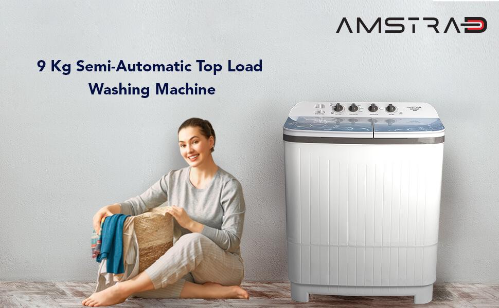 Amstrad AMWS90GN-Semi Automatic Washing Machine