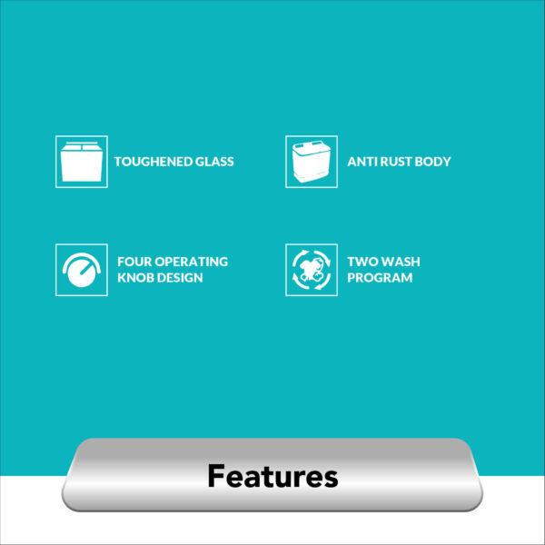 Amazon+ Amstrad Semi Automatic Washing Machine_AMWS108L