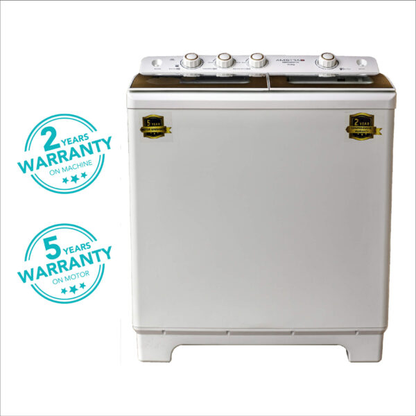 Amstrad Semi-Automatic Top Load Washing Machine with Stainless Steel Tub