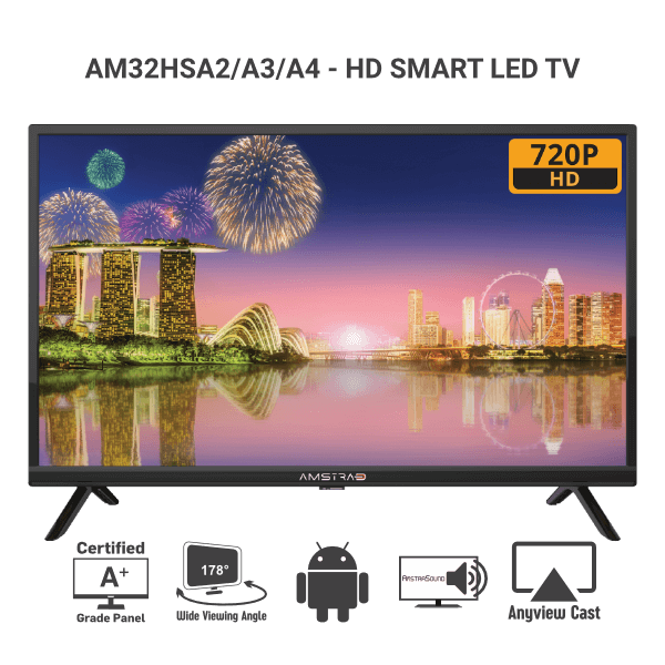 Amstrad Smart HD LED TV AM32HSA2, A3 & A4