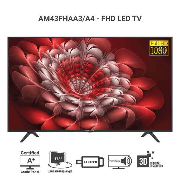 Amstrad Full HD LED TV AM43FHAA3 AM43FHAA4