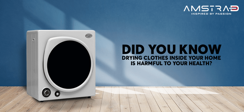 Drying Clothes Inside Home is Harmful to your health