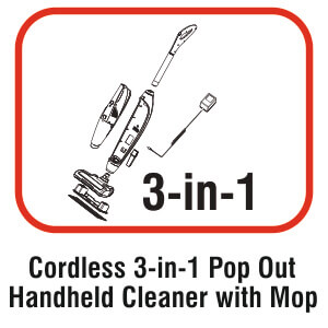 Amstrad 3-in-1 Vacuum Cleaner with MOP
