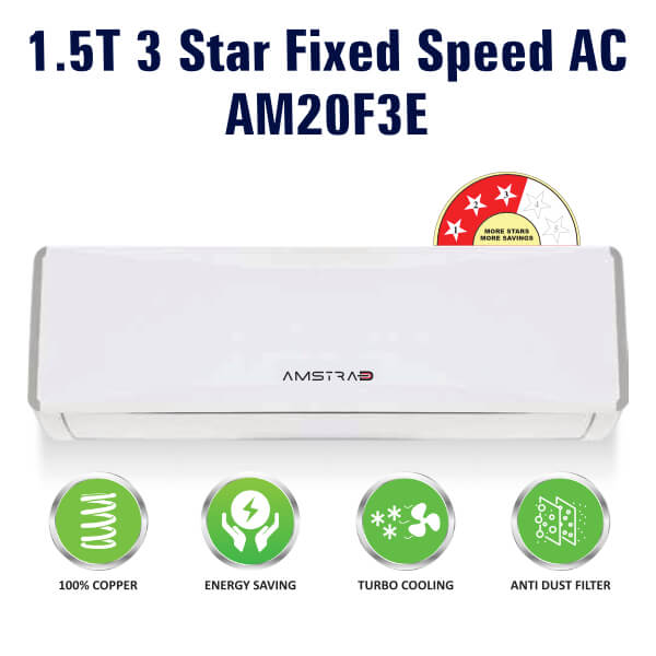 Amstrad 3 Star 1.5 Ton Fixed Speed AC AM20F3E
