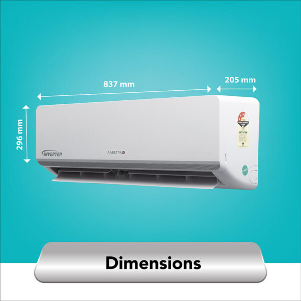 amstrad 1 ton 3 star inverter air conditioner ac