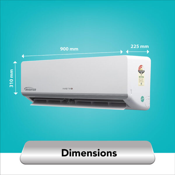 amstrad 1.5 ton 3 star inverter air conditioner ac