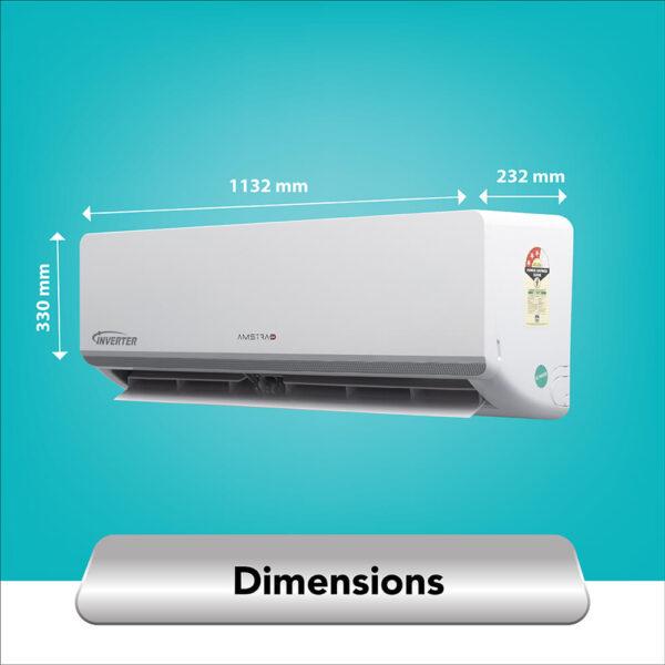 amstrad 2 ton 3 star inverter air conditioner ac
