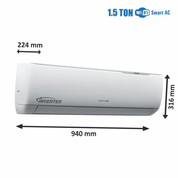 Amstrad WiFi Smart AC 1.5 Ton IDU Dimensions