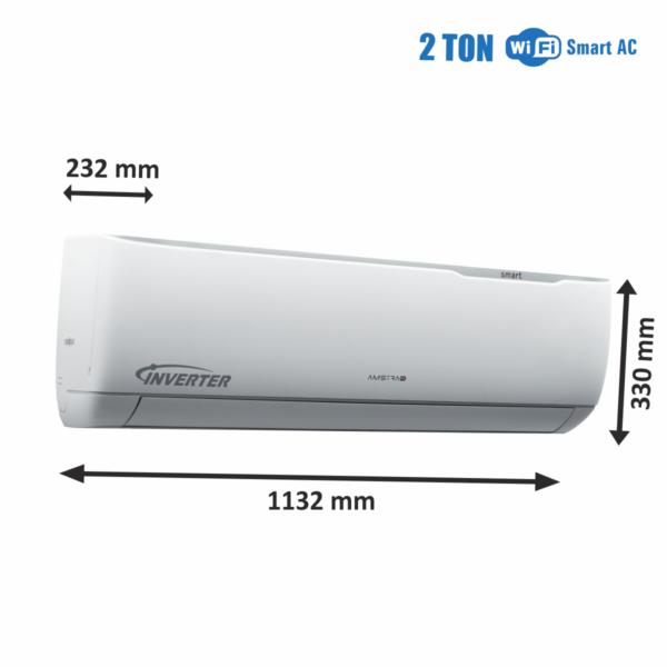 Amstrad WiFi Smart AC 2 Ton IDU Dimensions