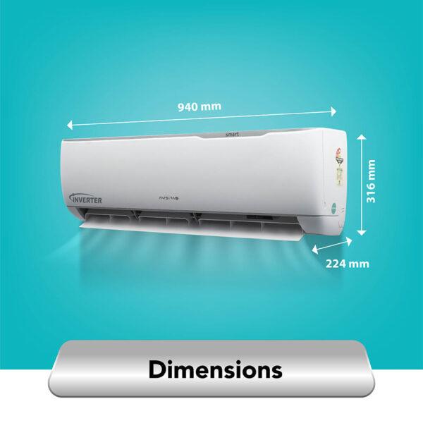 amstrad 1.5 ton 3 star smart wifi ac air-conditioner